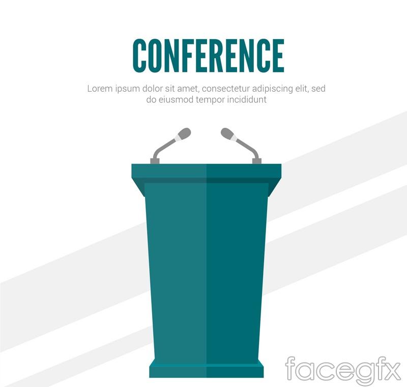 Conference Room podium design vector