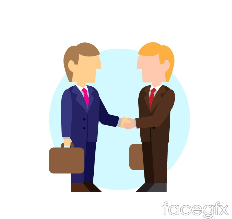 2 a handshake business man vector