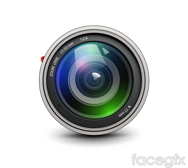 Beautiful lens design vector graph
