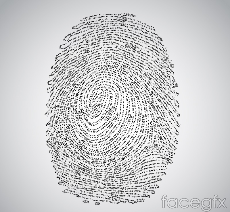 Creative 01 digital fingerprint design vector graph