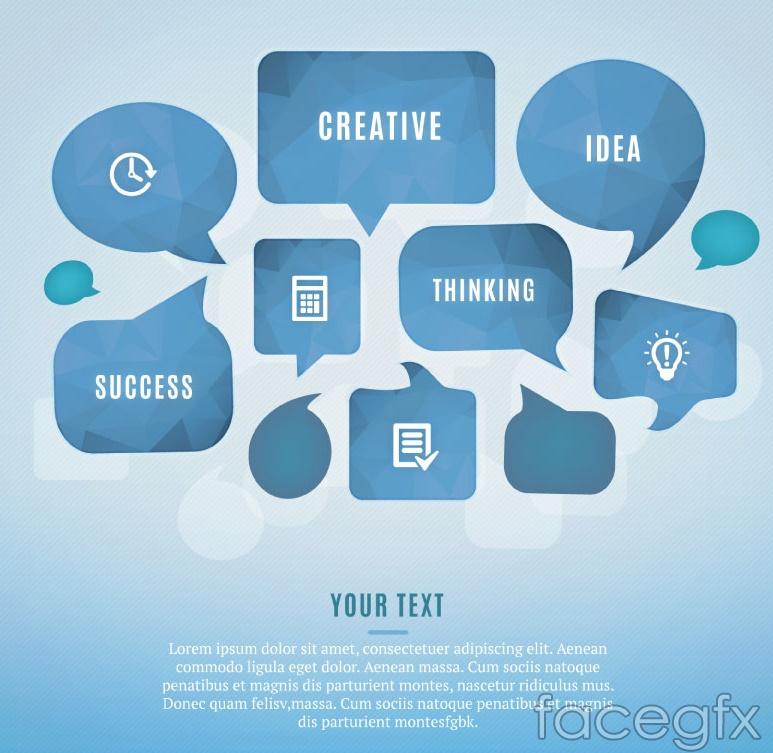 Creative language bubble business information maps vector