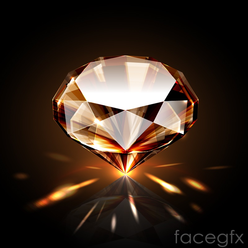 Dazzling diamond design vector