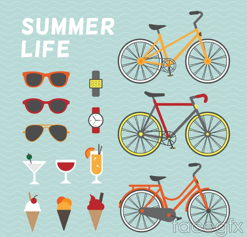 Summer vacation element vector