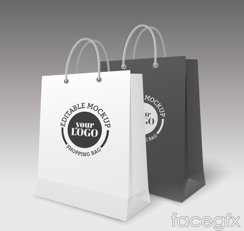 2 creative shopping bag vector