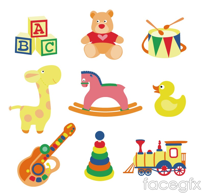 9 cartoon toy design vector graph