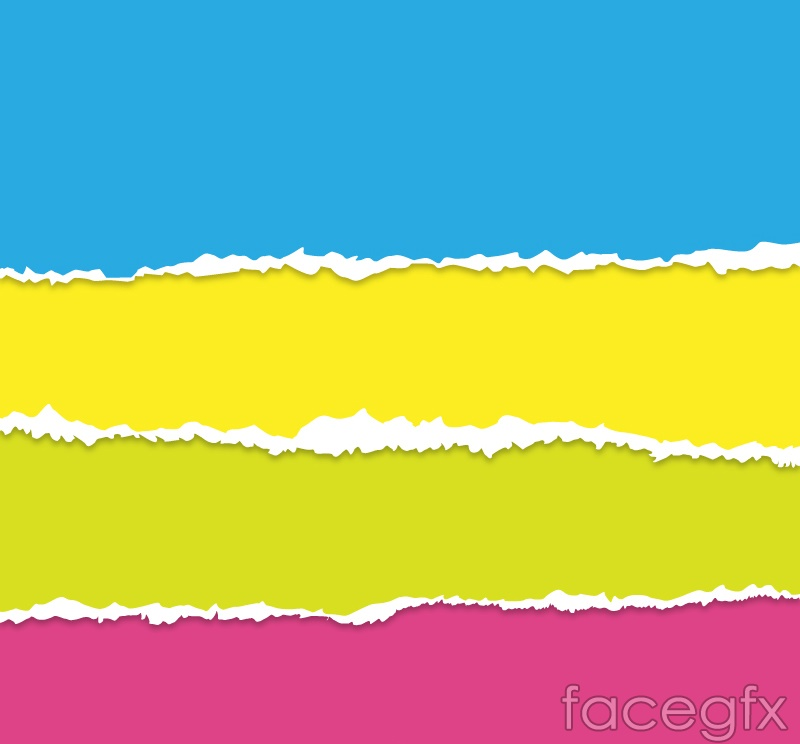 Color paper mosaic background vector