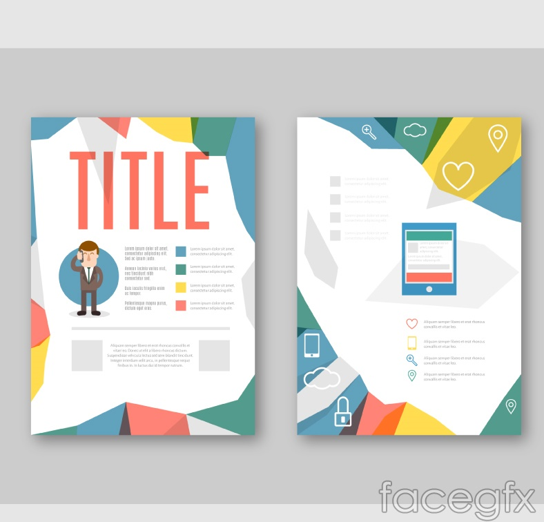 Color product brochure vector