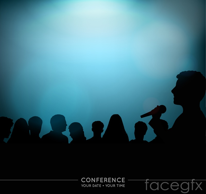 Figures the Conference poster vector