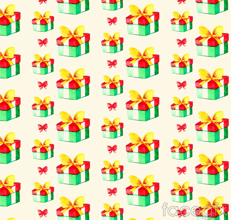 Color gift box vector seamless background image