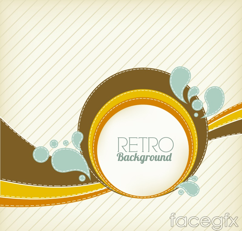 Vintage ring with water background vector