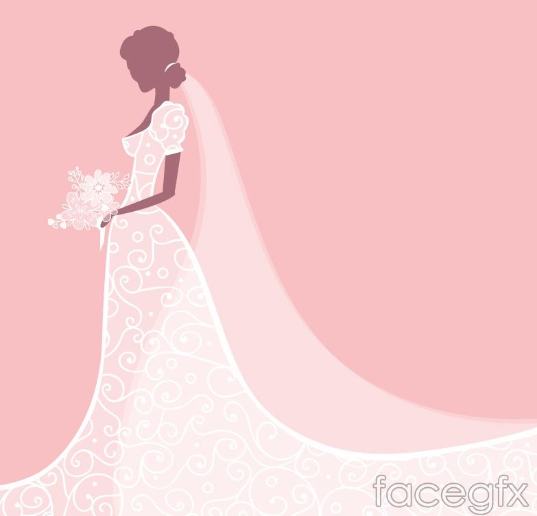 Wedding dress bride vector