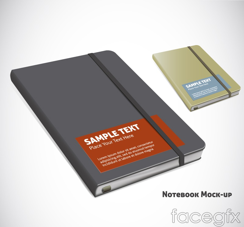 2 beautiful Notepad vector