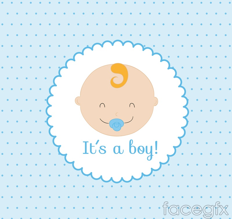 Cute baby picture card vector