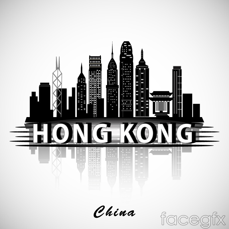 Hong Kong Buildings Silhouette Vector Free Download