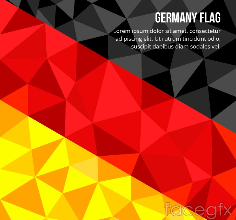 Geometry Germany flag background vector