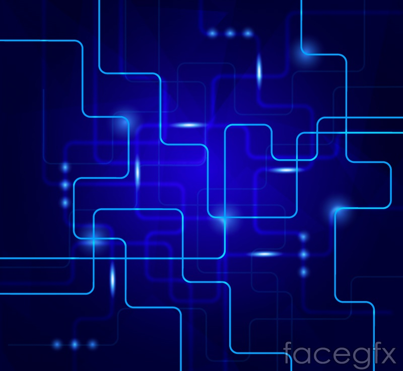Background blue bright curve vector