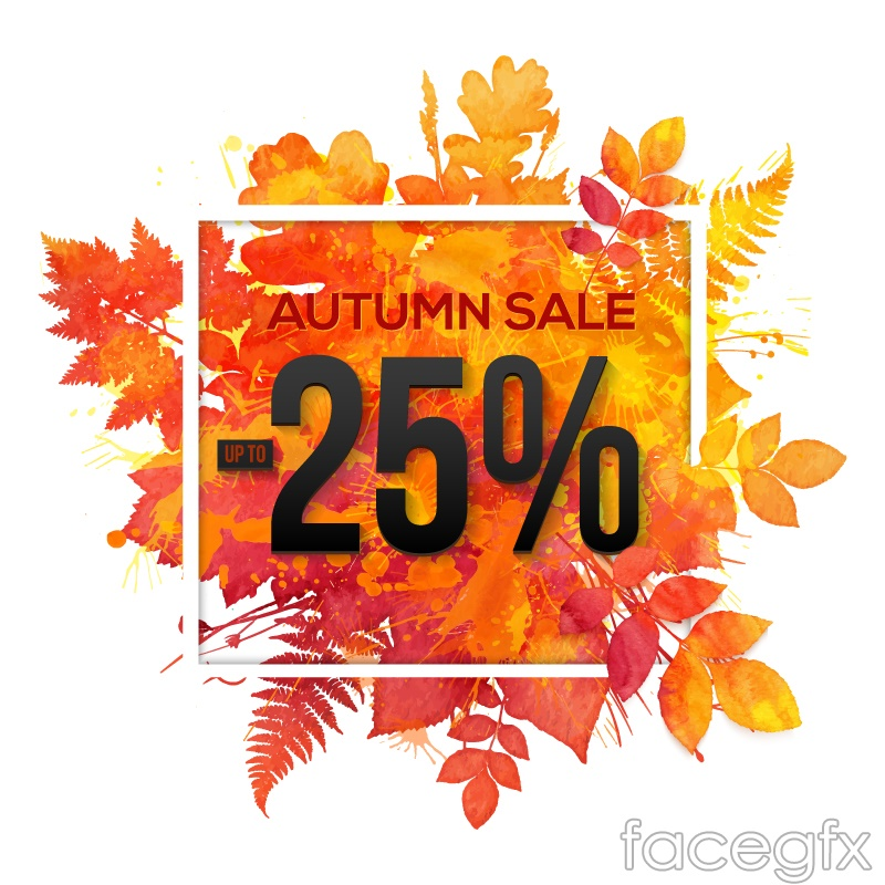 Colorful autumn leaves discount poster vector