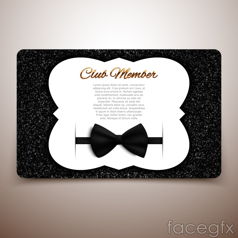 Creative Club membership card vector