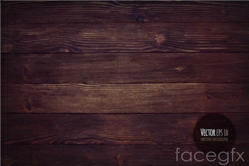 Dark wood grain background vector