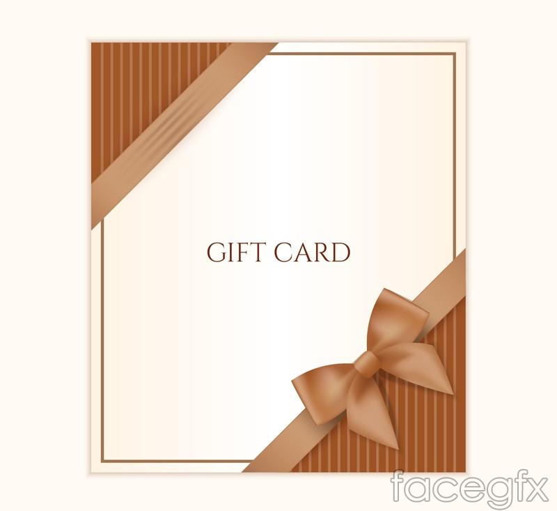 Elegant bow gift card vector
