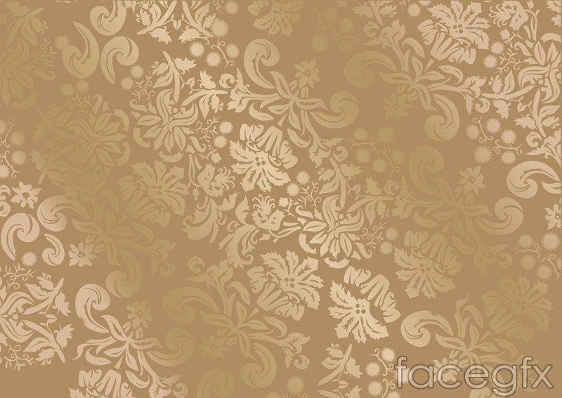 Gorgeous gold-patterned silk background vector