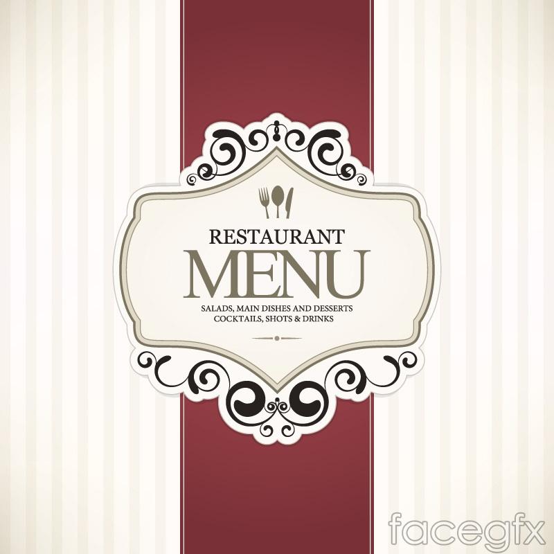 Simple restaurant menu covers vector graphics