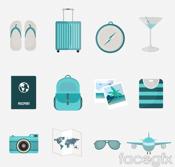 12 fresh vector travel icons