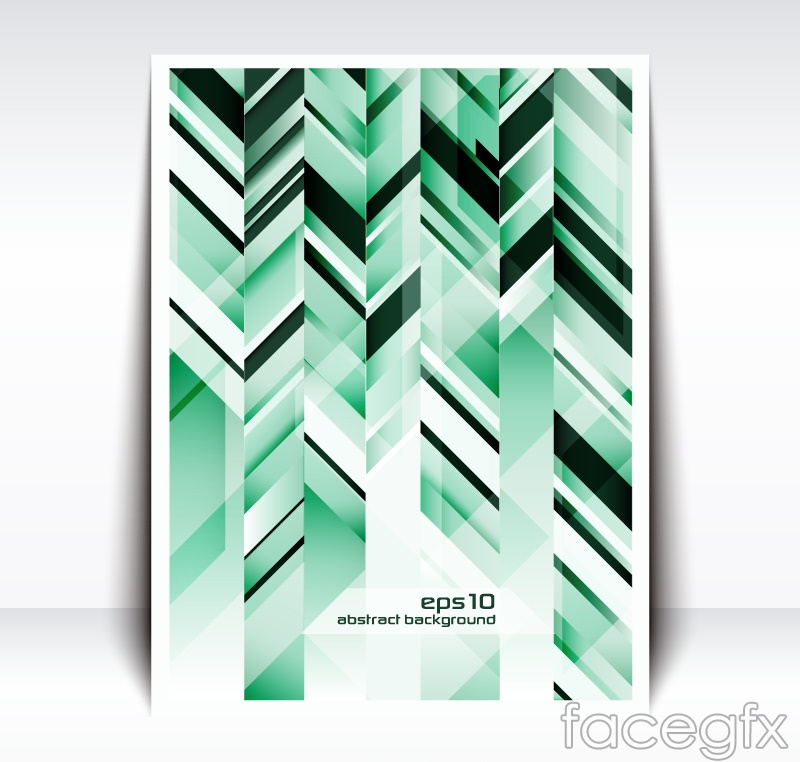 Green geometric flyer vector graphics