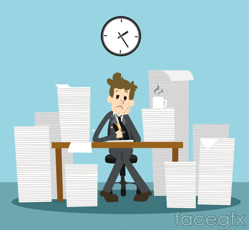 Mountain of business man vector graphics