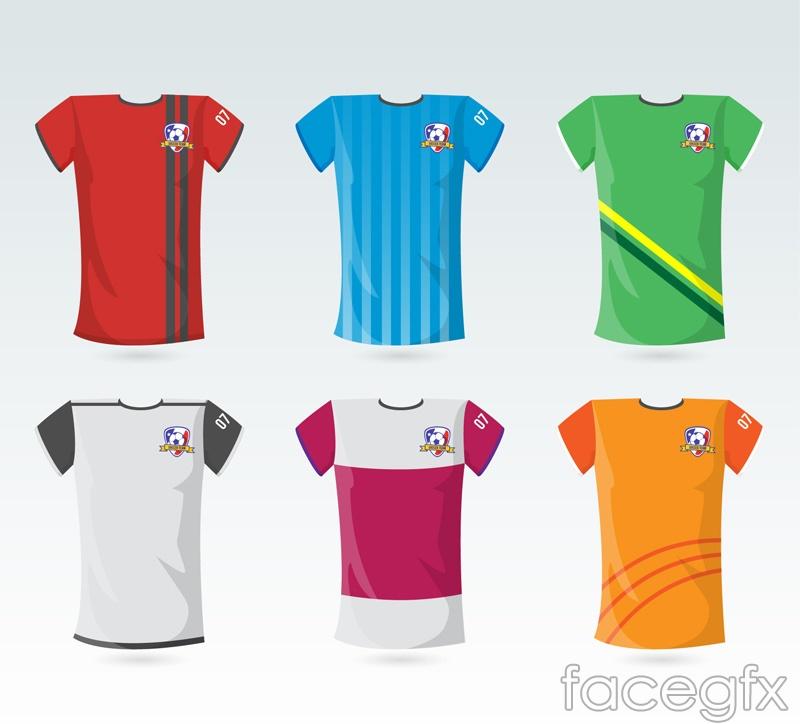 6 shirts design vector