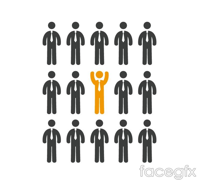Creative business man success vector