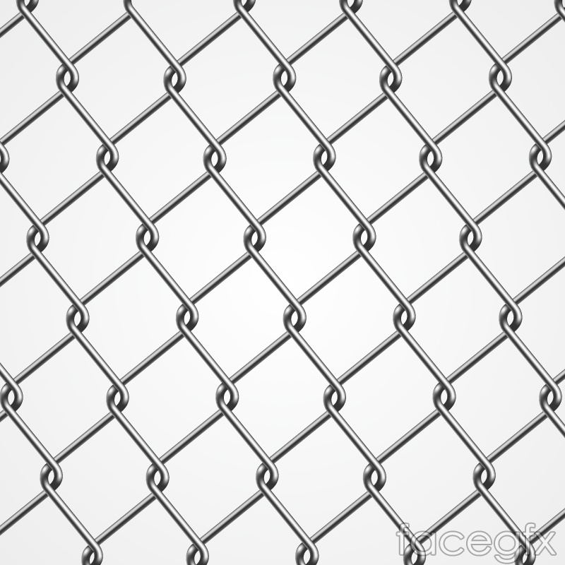 Silver barbed wire vector background