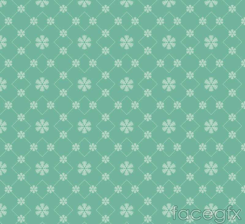 Green snowflakes seamless background vector
