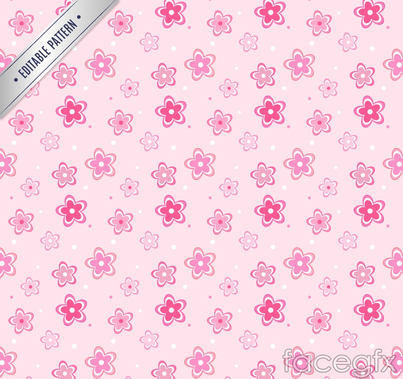 Pink flower design of seamless background vector
