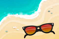 Beach sunglasses, vector