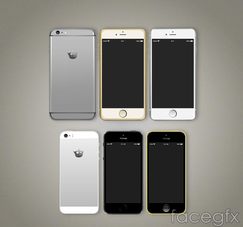 6 beautiful iphone6 design vector graph
