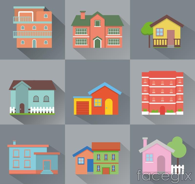 9 creative home design vector
