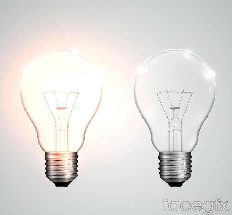 Bright and light bulbs vector