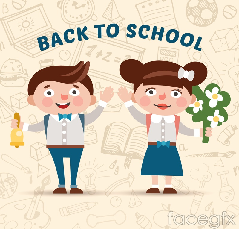 Cartoon returning student vector
