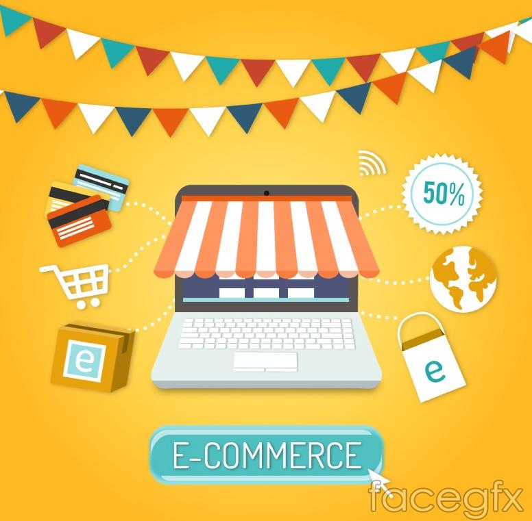 Creative e-commerce vector illustration