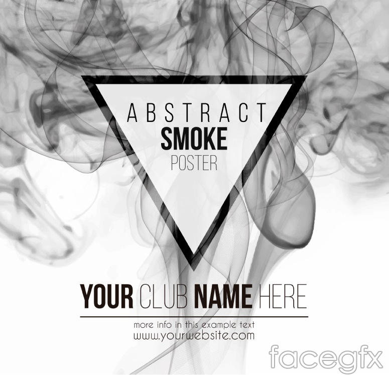 Creative grey smoking poster background vector