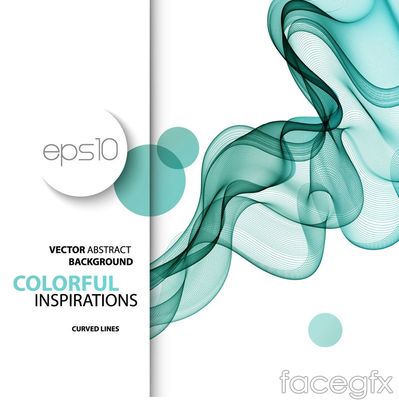 Green motion curves background vector