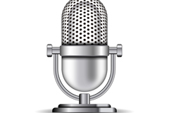 Beautiful Silver microphone vector