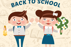 Cartoon returning student vector