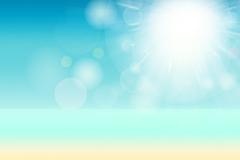Sun n sand fantasy vector