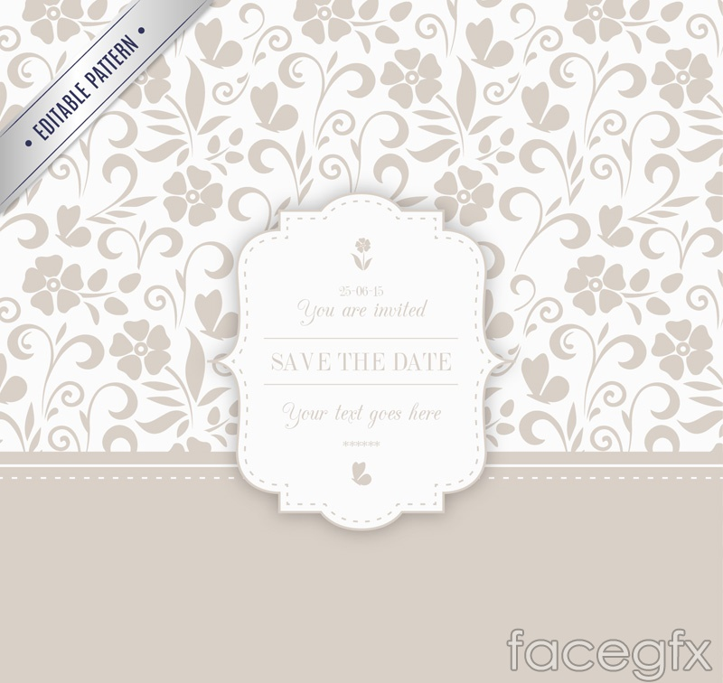 Simple but elegant pattern card vector