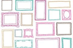 21 painted photo frames design vectors
