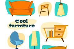 8 fashion furniture design vector graph