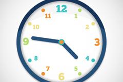 Color dial clock vector