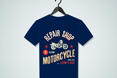 Fashion blue t-shirt design vector